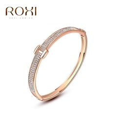 ROXI Jewelry For Women, Classic Austrian Crystals Rose Gold Color, Rhinestones Bracelet.