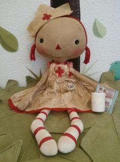 Handmade Primitive Raggedy Ann Annie Rag Doll YOU CHOOSE