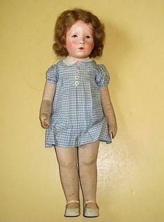 "Antique Kathe Kruse 20"" German Cloth Doll -"