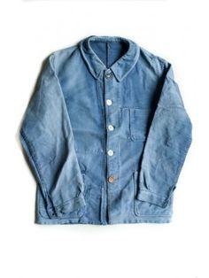 1930's worn moleskin jacket.