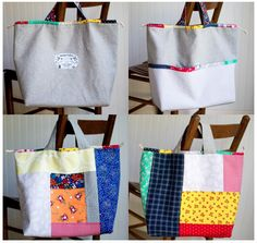 Japanese Knock off Tote Bag - free sewing tutorial