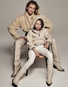 Top model Edita Vilkeviciute is styled in mini-me fashion by Claire Dhelens for 'We Are Family'. Chris Colls is behind the lens for Vogue Enfants' supplement to Vogue Paris October Hair by Maxime Mace; Family Posing, Family Portraits, Family Photos, Couple Photography, Editorial Photography, Fashion Photography, Paris Photography, Vogue Paris, Edita Vilkeviciute