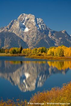 Mount Moran from Oxbow Bend, Grand Teton National Park, Wyoming. One of the most spectacular places I have even been to.
