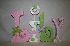 Wood letters nursery decor custom wood by WoodenWondersShop, $61.00