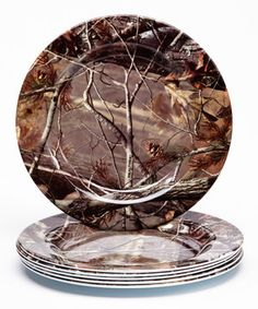 Look at this #zulilyfind! Real Tree 8'' Plate - Set of Six by Design Imports #zulilyfinds