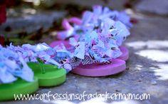 EASY TO MAKE -Scrap Fabric Flip flops