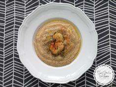 Zupa krem z pieczonego kalafiora i czosnku twobrokesisters blog