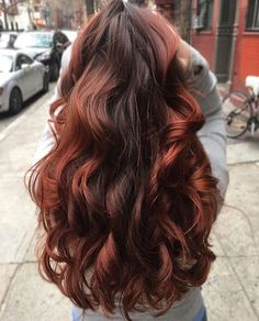 Name that color: chocolate cherry? Hair by Elena More