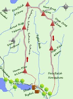 Fairfield Horseshoe route with views of the entire lake district