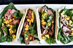 Healthy Thai Beef Tacos | How Sweet It Is