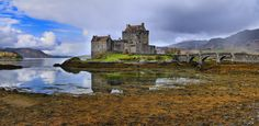 The Eilean Donan Castle - The Eilean Donan Castle panorama in Highlands of Scotland