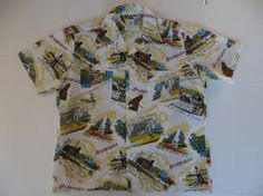 Vintage Hawaiian Shirt from Barbados West Indies by TomCatBazaar