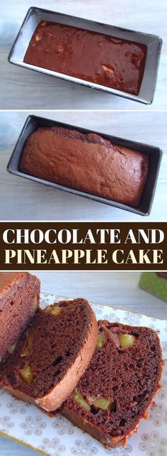 If you going to receive visits prepare this delicious chocolate and pineapple cake! It has excellent presentation and is very easy to prepare! Delicious Chocolate, Vegetarian Chocolate, Chocolate Recipes, Chocolate Cake, Pinapple Cake, Pineapple Bread, Food Cakes, Chocolates, Best Cake Recipes