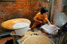 VIETNAM: Want to know how rice is harvested and milled or where your rice paper comes from? This is the Rice & Rice Paper Factory in Cai Be worth seeing if you're in the Mekong but with rice a way of life you see it all over Vietnam. Its not as easy as it looks!   (https://flic.kr/p/M2tqpc)