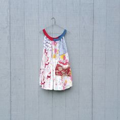 Floral Cat Dress Pocket Upcycled clothing / Patchwork by CreoleSha