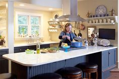 article - how professional chefs set up their own kitchen.  Chef Alysa Plummer's home kitchen