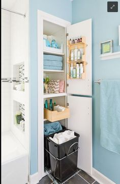 Bathroom organization! Love it!
