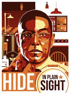 Poster based on Gus Fring from Breaking Bad.
