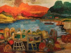 Lobster Pots by John Bellany (RA, CBE)