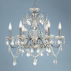 Dining room or master bedroom!!   Vienna Full Spectrum Chrome and Crystal Chandelier | LampsPlus.com