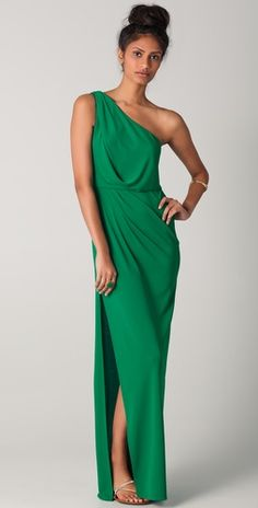 BCBGMAXAZRIA  Snejana One Shoulder Gown. this has nothing to do with the wedding, but goodness, i love it.