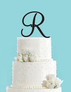 Monogram Personalized Letter R Custom Cake Topper Unique &