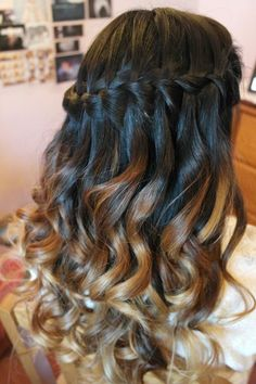 Waterfall Braid Ombre - Hairstyles and Beauty Tips