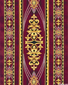 Coraline - Golden Baroque Beauty - by Jinny Beyer for RJR Fabrics