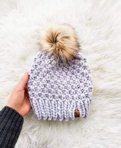 Beanie Knitting Patterns Free, Knitting Kits, Crochet Patterns, Start Knitting, Knit Beanie Pattern, Simple Knitting Patterns, Chunky Hat Pattern, All Free Knitting, Knit Headband Pattern
