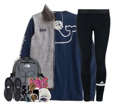 """""""{Sight Seeing}Claire's winter Contest"""" by kate-elizabethh ❤ liked on Polyvore featuring adidas, Patagonia, The North Face, Lilly Pulitzer, NIKE, Honora, Vineyard Vines, Moschino, Hansel from Basel and Ray-Ban"""