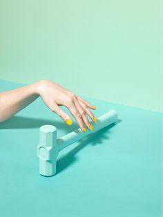 ♡ Art Direction : green mint hammer