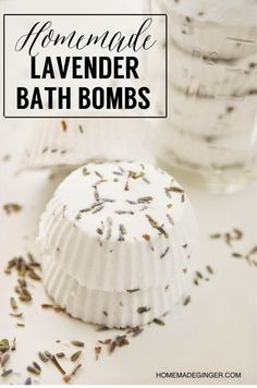 homemade lavender bath bomb recipe from Homemade Ginger
