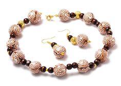 Ожерелье в технике хризантема