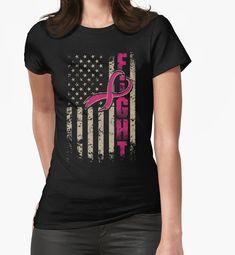 Vizor Womens Believe Flag Breast Cancer Off Shoulder Tops Sweatshirts USA Flag Pink Ribbon