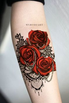 Popular Rose Floral Flower Black Chandelier Lace Forearm Tattoo Ideas for Women . - Popular Rose Floral Flower Black Chandelier Lace Forearm Tattoo Ideas for Women – Ideas de tatuaj - Lace Sleeve Tattoos, Sleeve Tattoos For Women, Tattoos For Guys, Lace Rose Tattoos, Tattoo Roses, Ribbon Tattoos, Tattoo Flowers, Tattoos Geometric, Tribal Tattoos