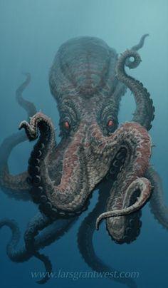octopus in the deep