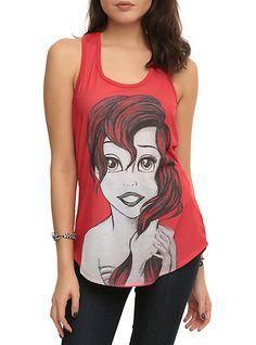 Disney The Little Mermaid Ariel Sketch Girls Tank Top   Hot Topic