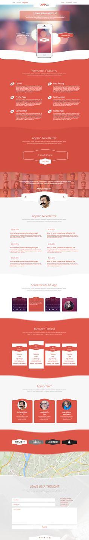 Unique Web Design, Appmo #webdesign #design (http://www.pinterest.com/aldenchong/)