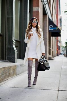 fashion blogger mia mia mine wearing a white sweater by cupcakes and cashmere from shopbop