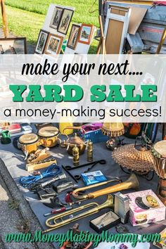 Yard Sale Tips and Prep Ideas To Maximize Your Yard Sale Tips and Prep Ideas To Maximize Your Earnings Yard Sale Tips and Prep! While the weather is nice, get organized and make extra cash with a well thought out yard sale. These tips can help! Make Money On Internet, Make Money Online Now, Make Money Fast, Make Money Blogging, Make Money From Home, Money Tips, Garage Sale Tips, Teen Money, Making Money On Youtube