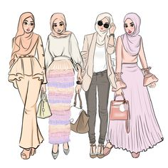 [New] The 10 Best Art Ideas Today (with Pictures) - Summer vibes Artist Dress Design Sketches, Fashion Design Drawings, Fashion Sketches, Fashion Drawing Dresses, Fashion Illustration Dresses, Anime Fashion, Fashion Art, Muslim Fashion, Hijab Fashion