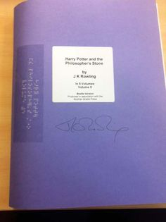 If you love all things Harry Potter, check out this unique, signed Braille edition of Harry Potter and the Philosopher's Stone!