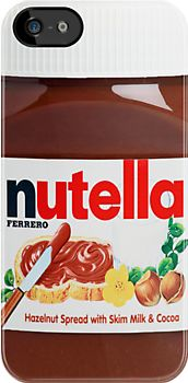 Nutella iPhone Case... My bff would love that