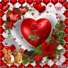 See the PicMix Coeur belonging to lachtite on PicMix. Happy Valentines Day Pictures, Valentine Images, Love Heart Gif, Love You Gif, Heart Images, Love Images, Beautiful Gif, Beautiful Roses, Imagenes Gift