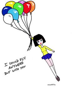 #girl #fly #cartoon #love