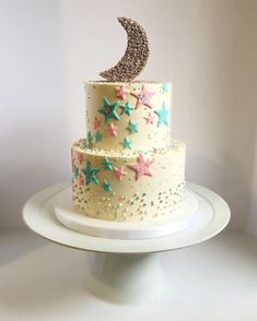 Twinkle twinkle little star, how we wonder what you are! #genderrevealcake…