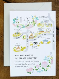 Custom Wedding Stationery // Illustrated Save the by JollyEdition