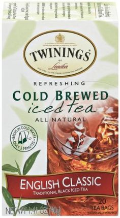 Twinings English Classic Cold Brewed Tea Packages (Pack of Simply add water, let stand, add ice and minutes later your refreshing iced tea is ready to drink. Twinings Tea, Teas 6, Tea Brands, Brewing Tea, Mixed Berries, How To Make Tea, Cold Brew, Iced Tea, Gourmet Recipes