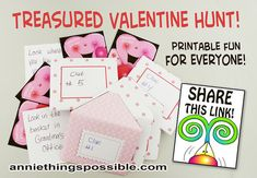 Make a Treasure Hunt from Annie Lang's printable Valentine project sheets!