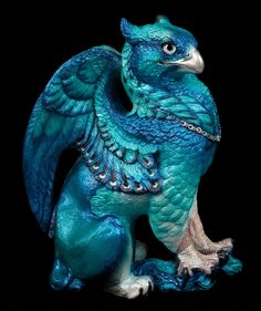 "WINDSTONE ""BLUE #1"" MALE GRIFFIN FIGURINE; FANTASY GRIFFON STATUE #ebay #fantasy #art"